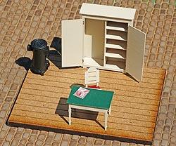 Inneneinrichtung Posten 28, Bild 4, nur der Ofen stammt von Paulo.