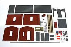 Die Einzelteile des Bausatzes