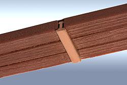 Bahnsteigkante aus Holzschwellen, Spur O, Bild 2