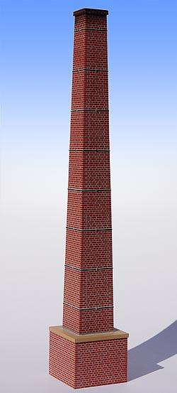 Bausatz Fabrikschornstein, Spur O, Bild 1