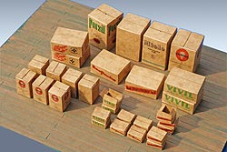 Bausatz 30 Stück Pappkartons, Spur O, Bild 2